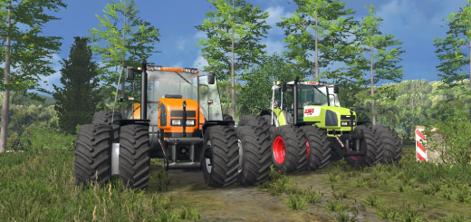Renault-Ares-735-RZ-and-Claas-Ares-816-Tractor